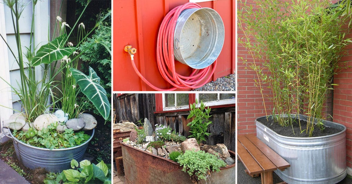 18 Unimaginable Galvanized Tub Uses In The Garden