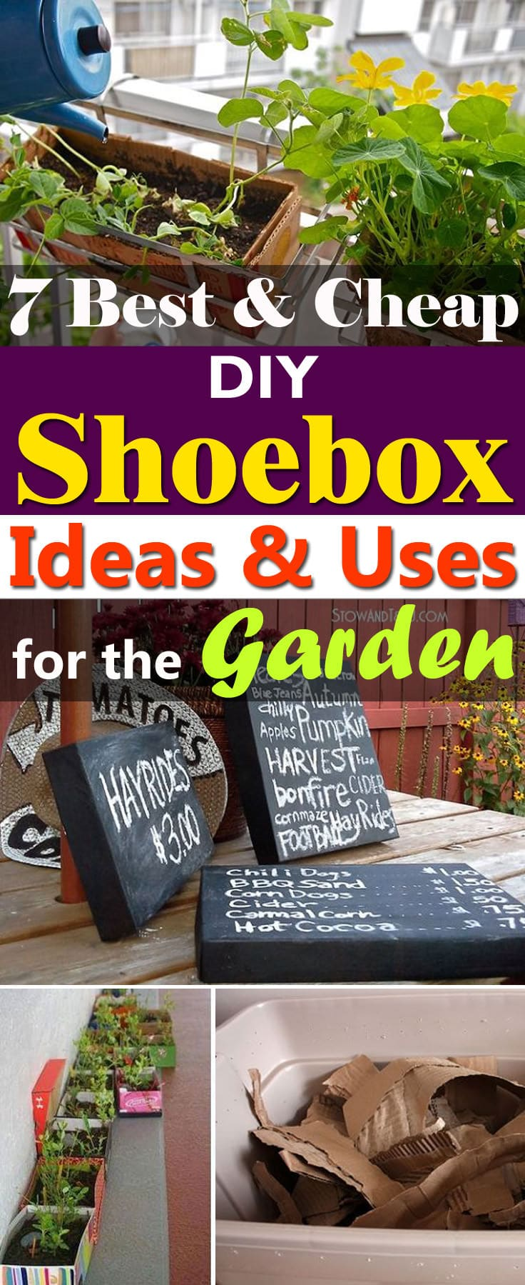 Those shoe boxes you always throw away can be useful. Here're the 7 Best DIY Shoe Box Ideas and Uses for the garden you need to look at!