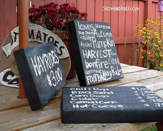 DIY Chalkboard Painted Box Lids