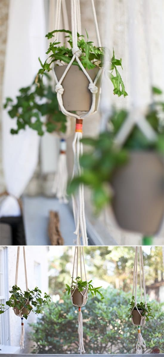 Macrame Plant Holder Hanging Garden