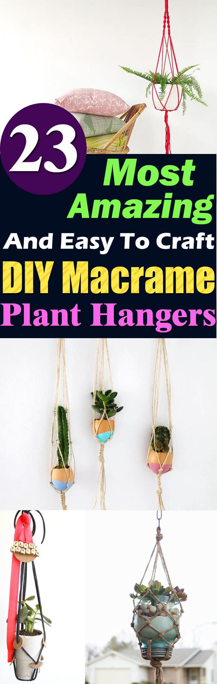 Macrame plant hangers are becoming popular, they're a stylish way to create hanging planters out of ordinary pots!
