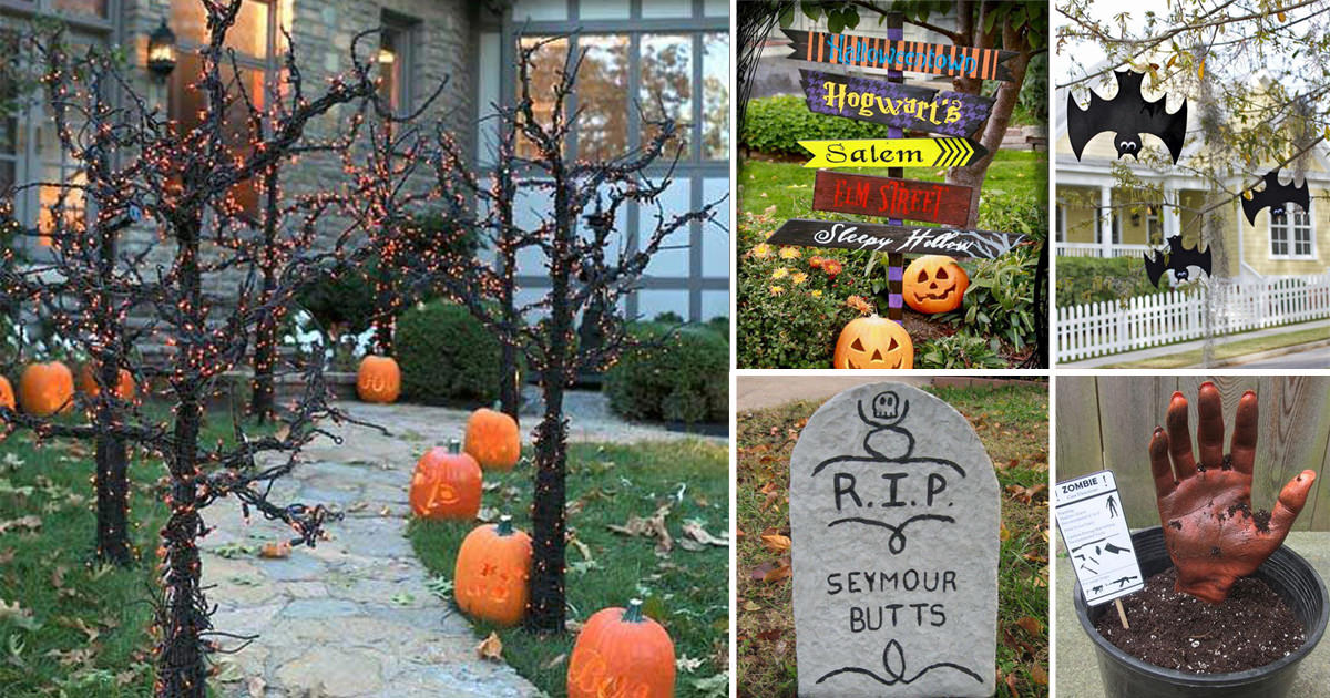 50 Diy Halloween Garden Ideas Balcony Garden Web