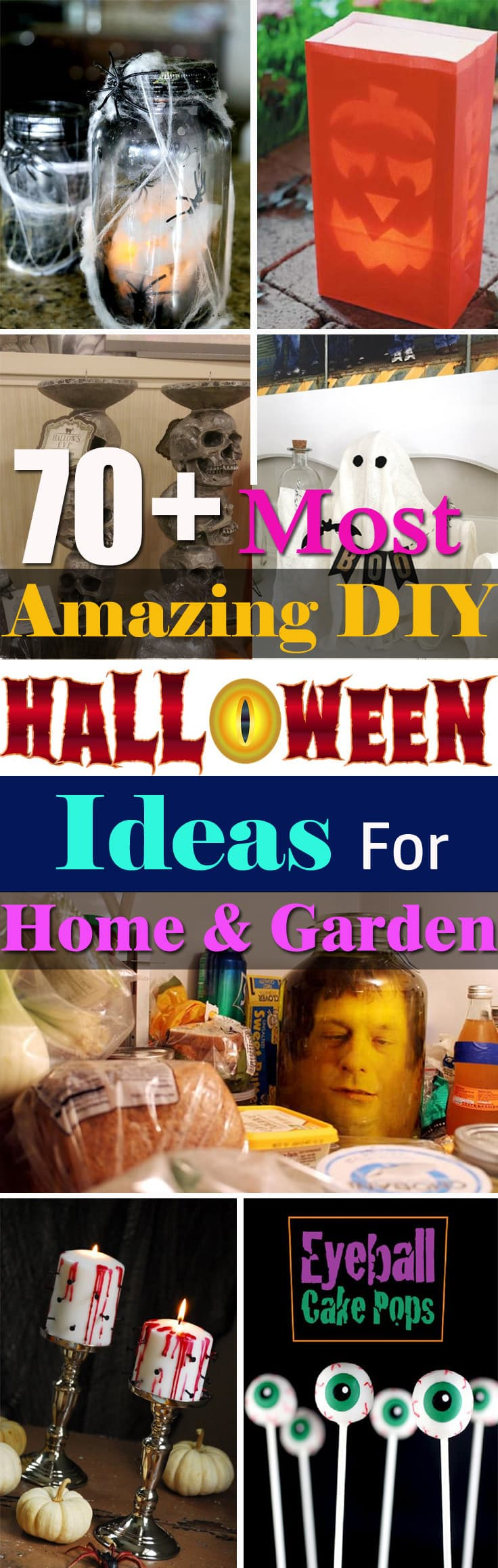 70+ Best DIY Halloween Ideas you need to decorate your home and garden. Check out!
