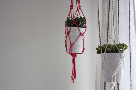 Rope Potted Macrame Hangers