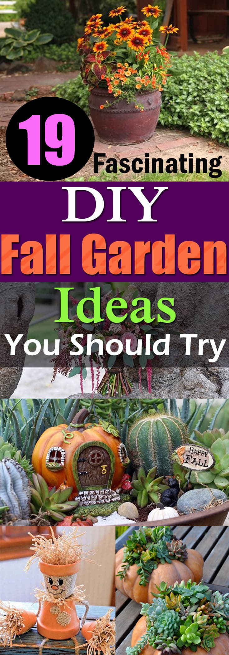 Fall brings up the lack of interest in the gardening, which amplifies in the winter, but you can avoid this by following the DIY Fall Garden Ideas and Projects here!