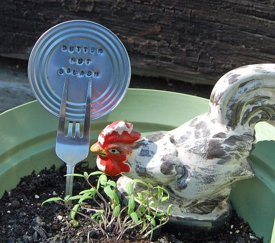 Recycled Can Lids Garden Marker