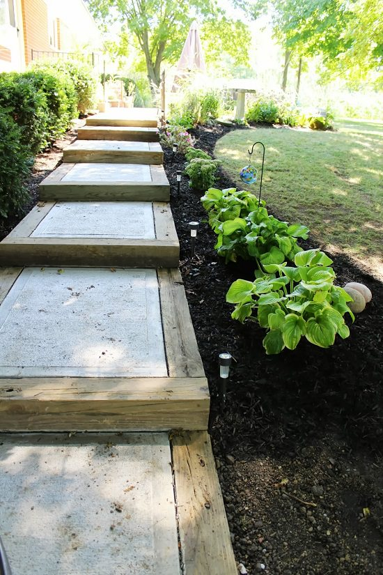 DIY Garden Walkway Ideas 3