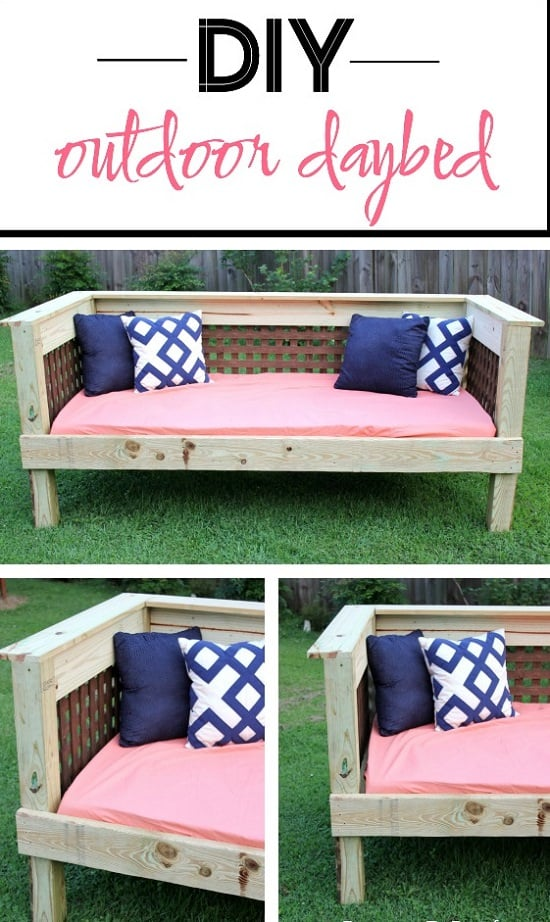 DIY Outdoor Bed Projects & Ideas you can try