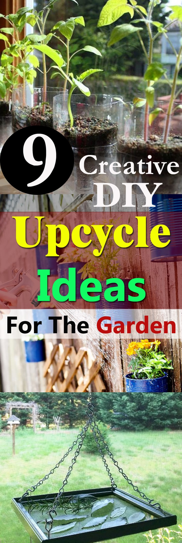 If you like to reuse and recycle your old things, take a look at these DIY Upcycle Ideas for the Garden!