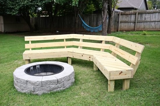 Simple Outdoor Wooden Benches