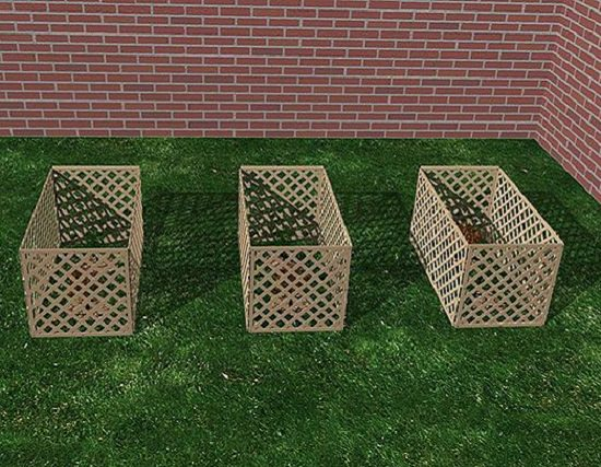 Cedar Lattice Compost Bin