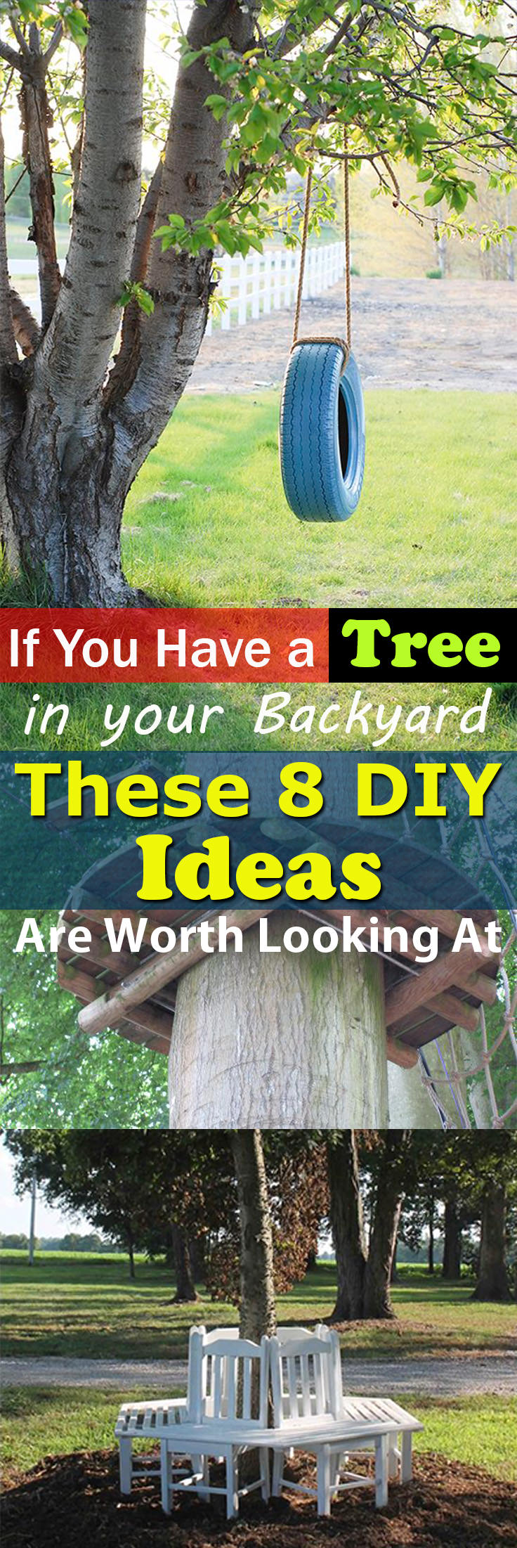 Do you have a tree in your backyard? Take help of it to complete one of these 8 DIY Tree Projects!