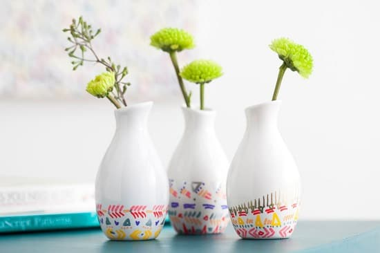 Patterned Bud Vases