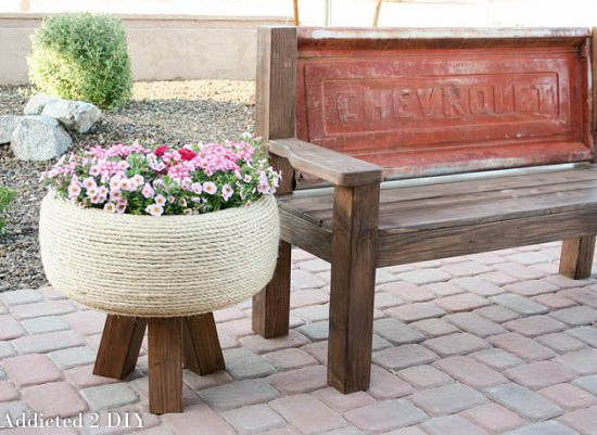 DIY Rope-Tire Planter