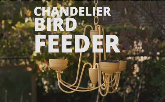 Get an old chandelier and turn it into a DIY Bird Feeder in just a few easy steps given in this tutorial!