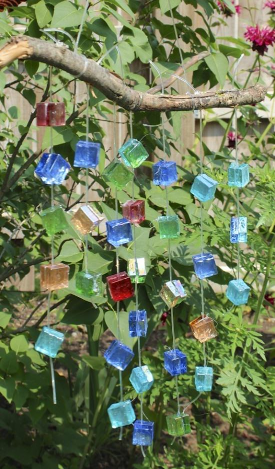 DIY Glass Mosaic Wind Chime