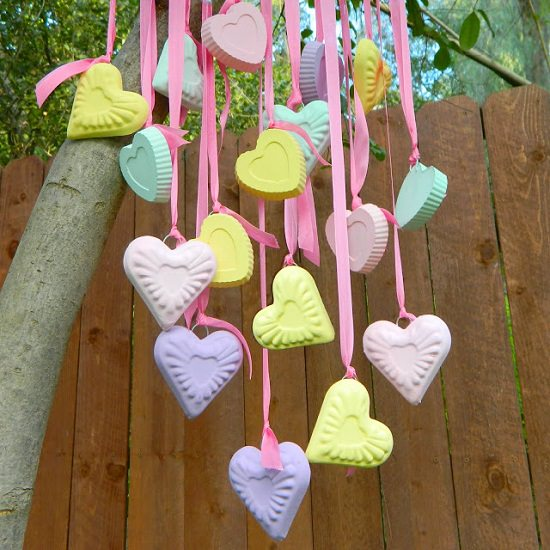 Candy Heart Wind Chime