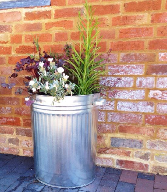 These Dustbin Planters are cheap but look great. You can make them too with the help of tutorials in this article!