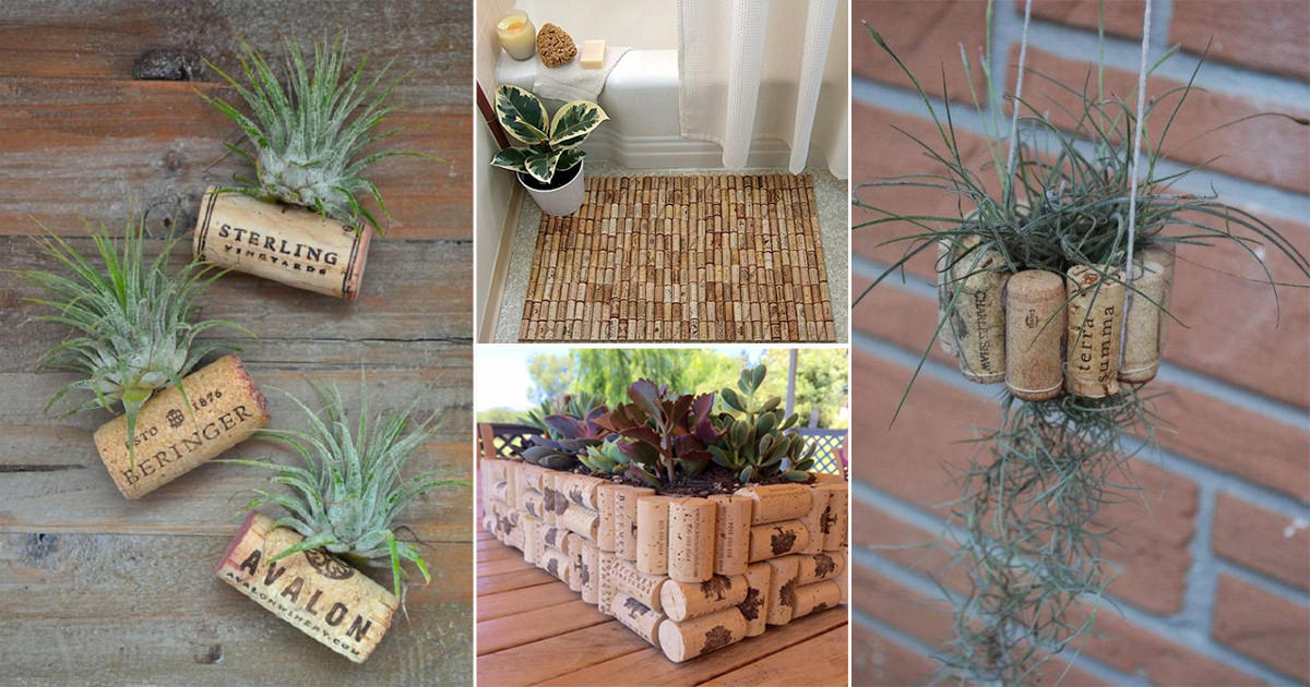 24 Great Diy Wine Cork Ideas For The Garden Home Balcony