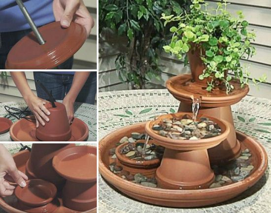 Diy Terracotta Pot Fountain