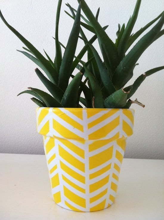 Herringbone Pattern Planter