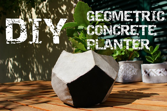 concrete geometric planter