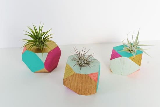 Wooden DIY Geometric Planters
