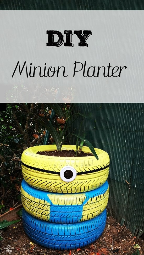 minion tire planter