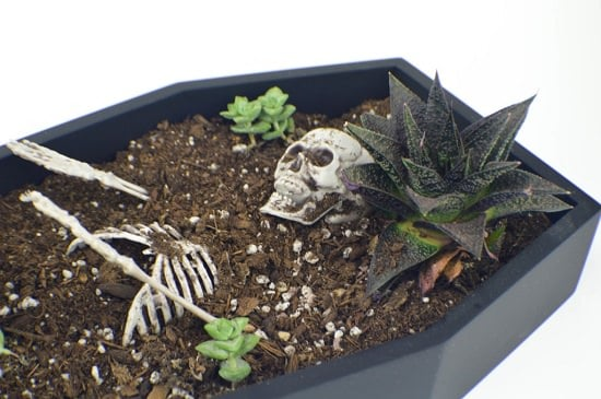 Scary Halloween Planter diy