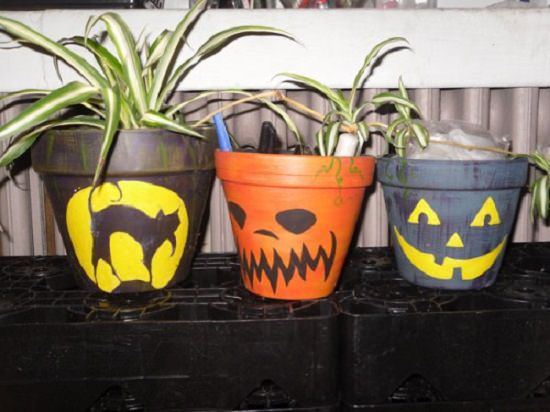 Scary Halloween Planter ideas