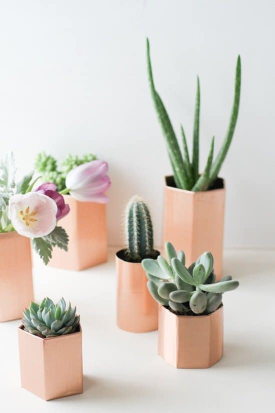 Copper Geometric Planters