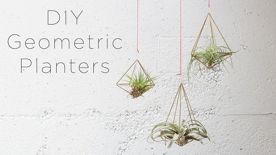 Use Thin Br S To Recreate These Geometric Air Plant Holders Which Are Perfect For Displaying Hanging Plants Watch And Understand The