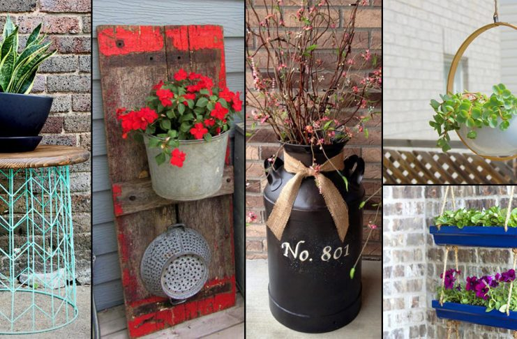 39 Impressive DIY Porch Planter Ideas To Increase The Curb Appeal & Patio Gardening Archives | Balcony Garden Web