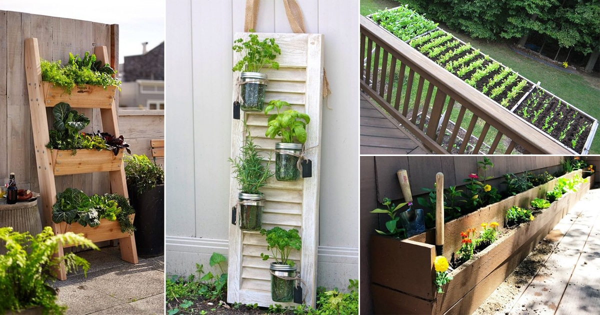 9 Deck Gardening Ideas To Grow More Vegetables U0026 Herbs In Small Space2