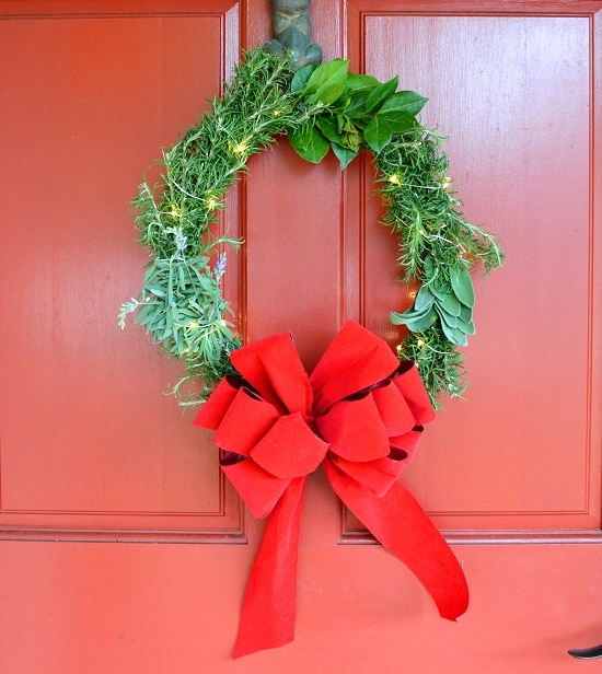 DIY Holiday Herb Wreath