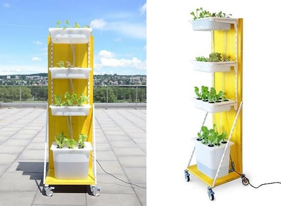 Moveable Indoor Hydroponic Garden