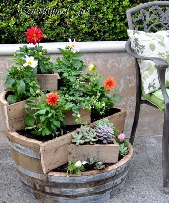 17 best diy wine barrel planter ideas