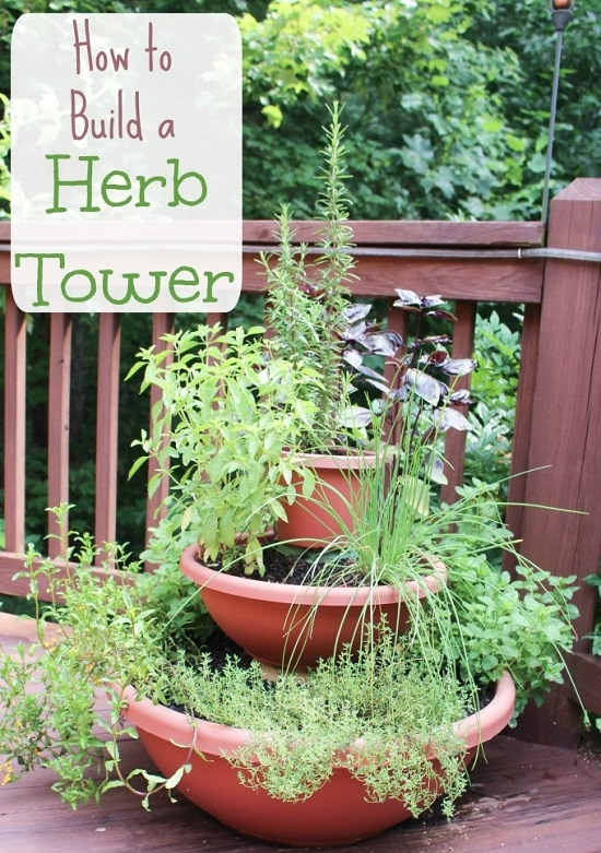 diy herb tower ideas