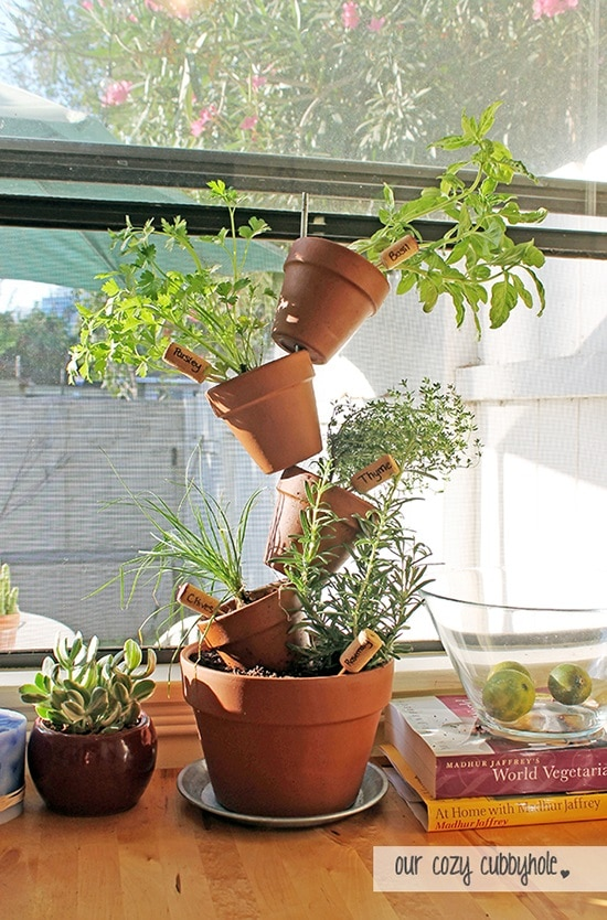 Space Saver DIY Herb Tower