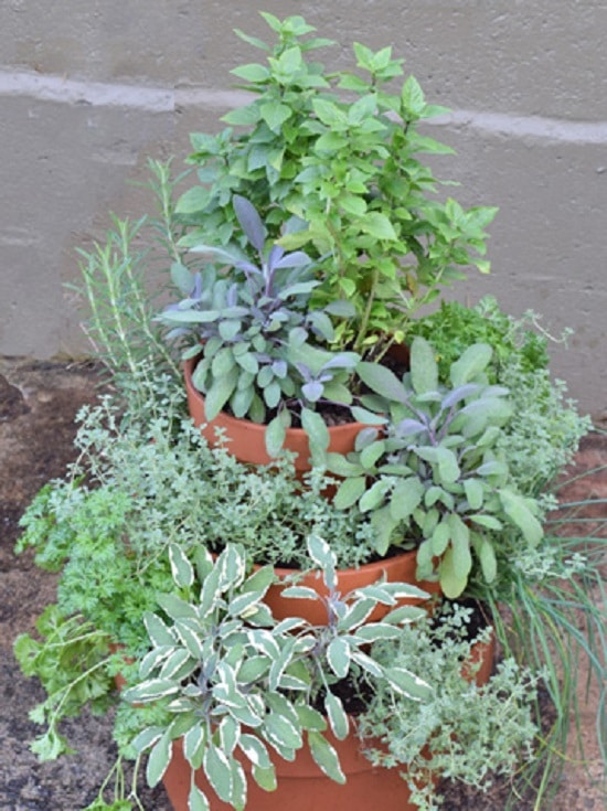 DIY Herb Tower Idea
