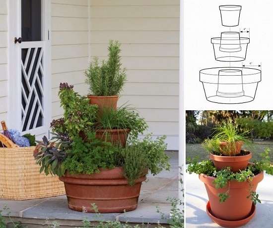 Space Saver DIY Herb Tower Ideas