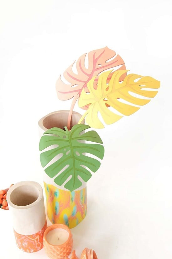 DIY Paper Monstera Leaves