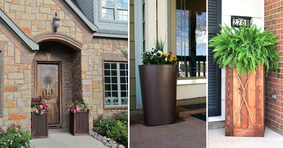 10 diy tall planter ideas to increase your curb appeal