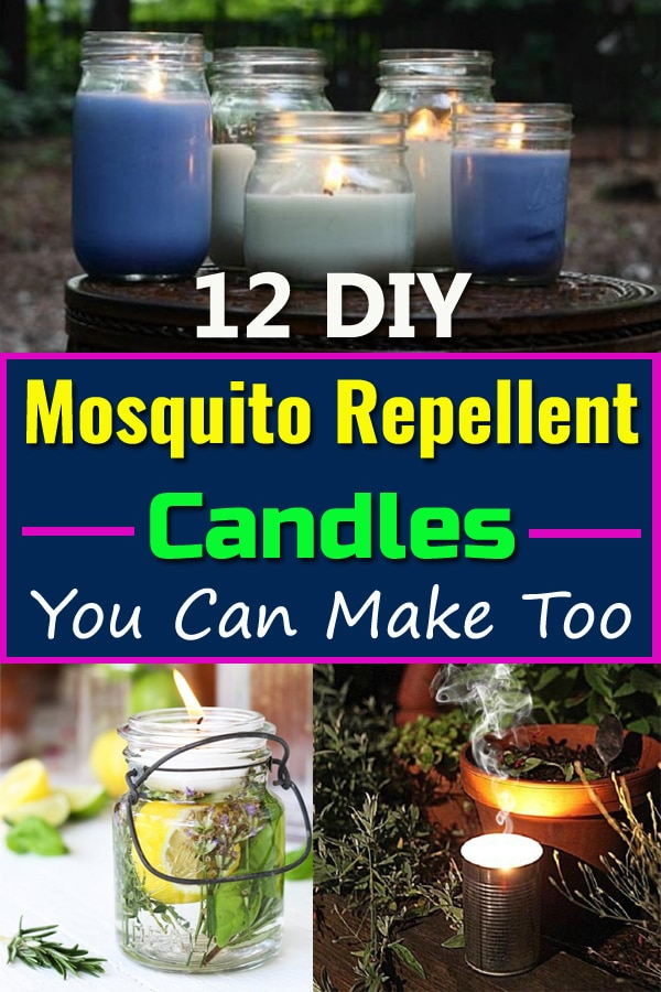 These homemade DIY Mosquito Repellent Candles can be a safe way to get rid of mosquitoes and other bugs. Check out the 12 recipes!