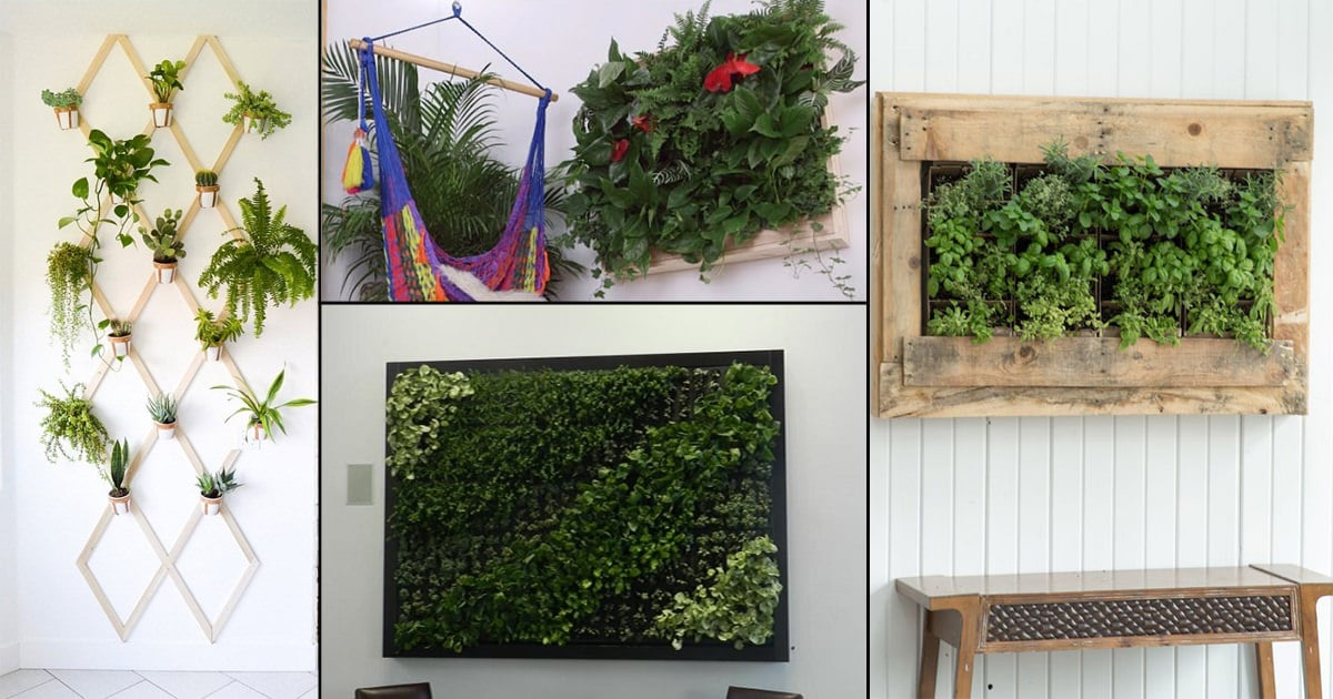 16 DIY Indoor Plant Wall Projects Anyone Can Do | Living ... Indoor Wall Garden Diy