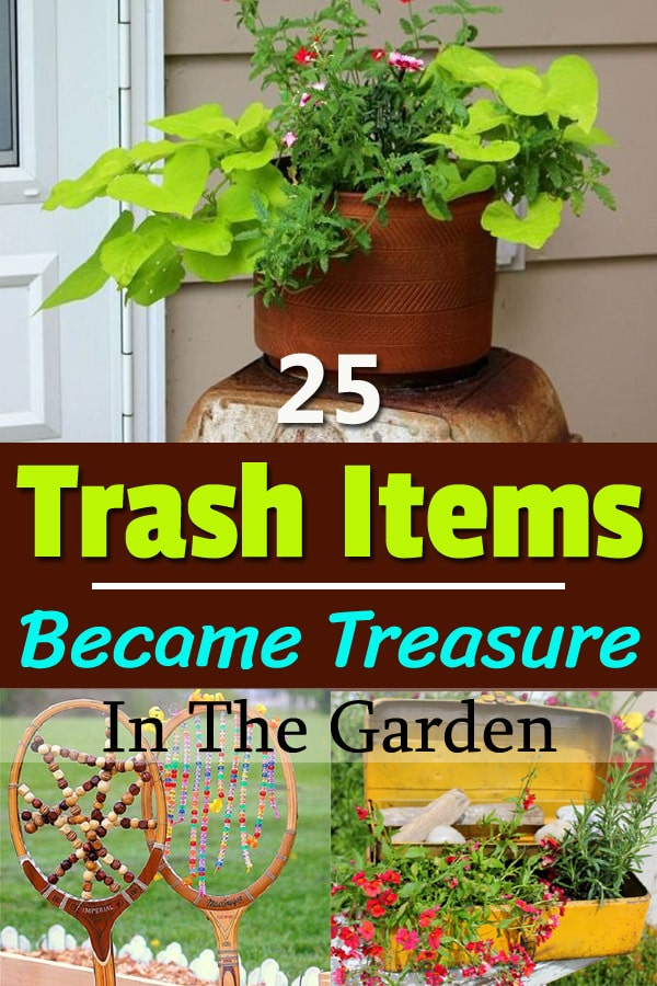 Learn how to use throwable junk items in the garden and make amazing things out of them.