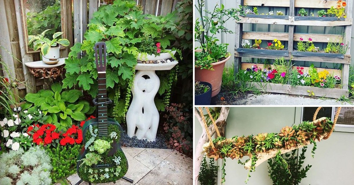 40 funky diy garden ideas to steal from instagram - Small backyard landscaping ideas ...