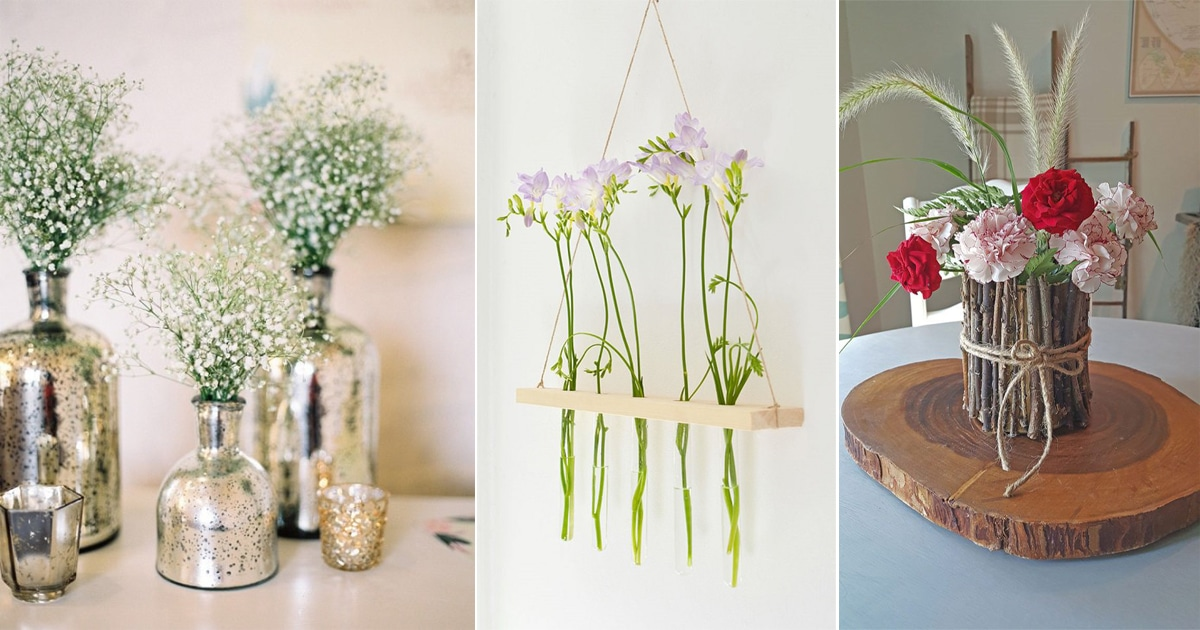 50 Gorgeous Diy Flower Vase Ideas You Can Do Easily Balcony Garden Web