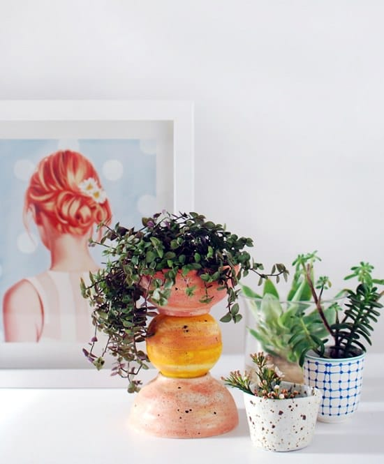 DIY ikea hacks Totem Planter