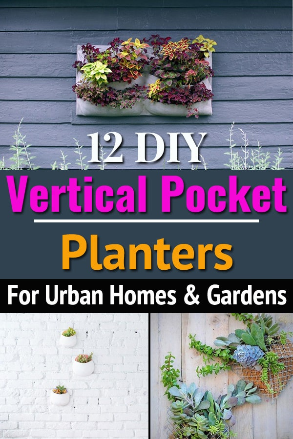 "Take your love for vertical gardening to another level by making these ""so easy to make"" DIY Vertical Pocket Planters for your home or garden!"